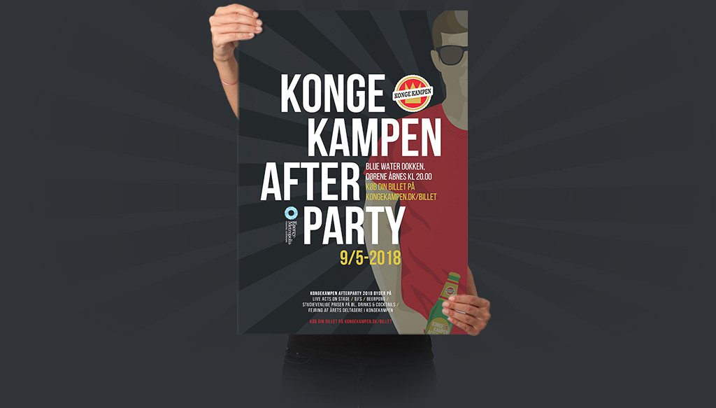 Kongekampen Afterparty - plakat design