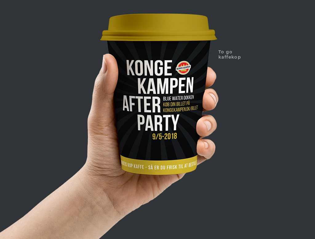 Kongekampen Afterparty - design af kaffekop