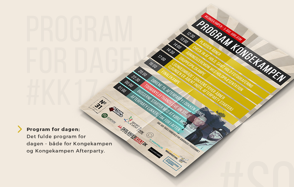 Kongekampen design af program for dagen