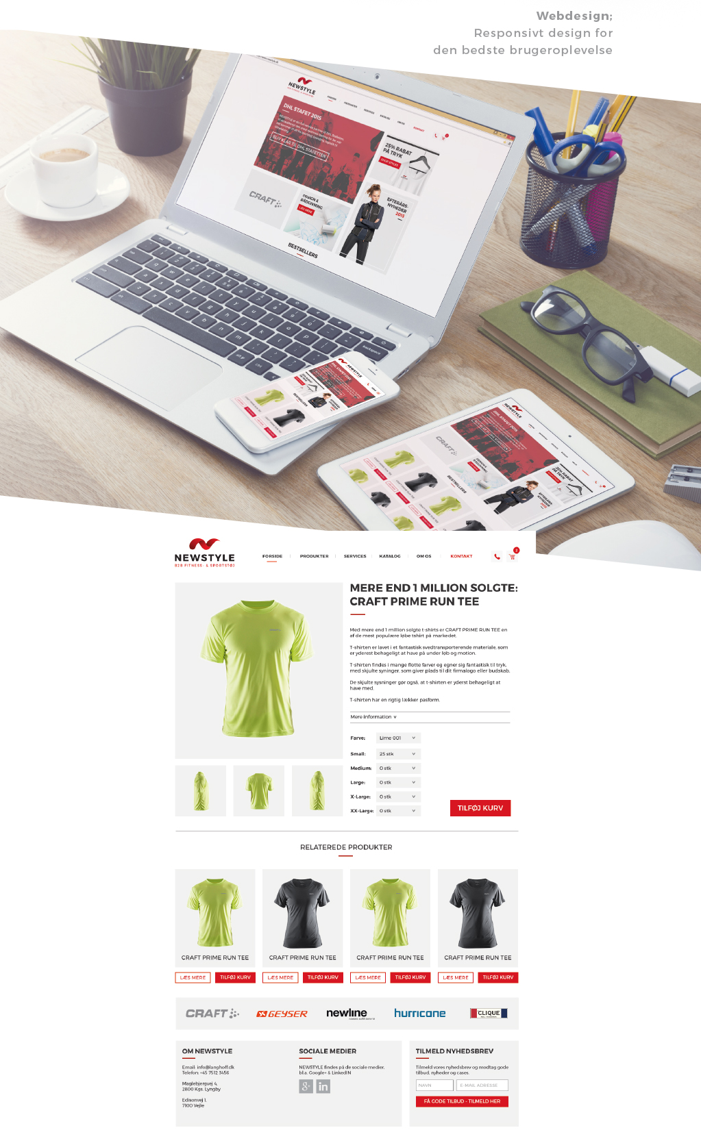 Visuel identitet NEWSTYLE - webdesign