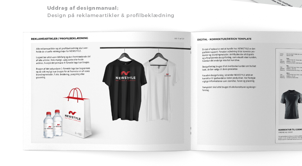 Visuel identitet NEWSTYLE - merchandise