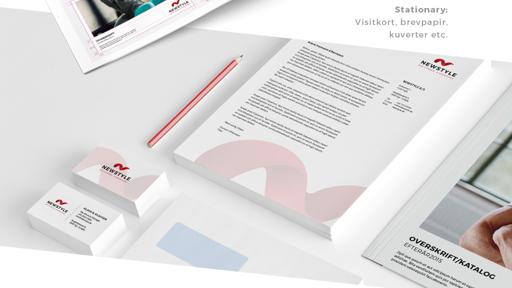 Visuel identitet NEWSTYLE - stationery